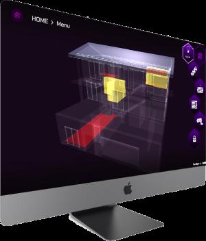 myIO_3D app iMac
